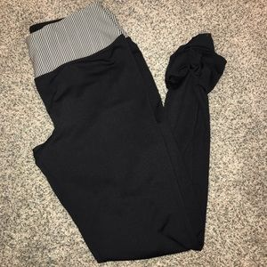 Pants - Striped and Black Athletic Leggings